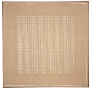 "Agnes Martin, ""The Islands.""  1961, acrylic and graphite on canvas.  72"" x 72""."