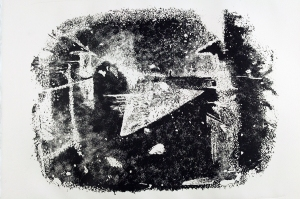 Lithograph After Niepce. 2012, lithograph on paper.
