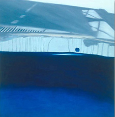 Reflection: on Crossing I. 2004, oil on canvas. 36 x 36 inches.