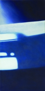 Reflections: on Crossing VIII. 2005, oil on canvas. 28 x 14 inches.