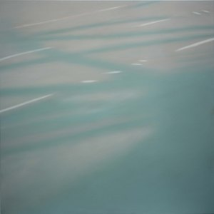 Reflections: on Crossing XXIV. 2007, oil on canvas. 36 x 36 inches.