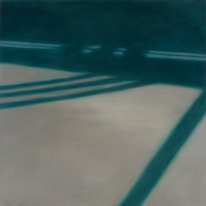 Reflections: on Crossing XXV. 2007, oil on canvas. 48 x 48 inches.