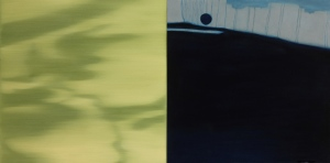 Shadows and Reflections I. 2012, oil on canvas. 24 x 48 inches.