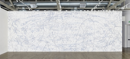 Variation: Large Delineation, 2014 Site-specific mural, acrylic 13' x 40'