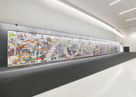 Untitled (Large Variation), 2015 Ceramic mosaic 10' x 109' San Francisco International Airport