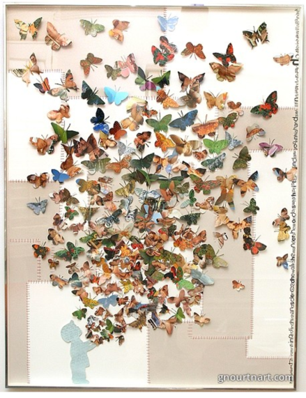 Butterfly Boy, 2009 Mixed media 57 x 42 inches